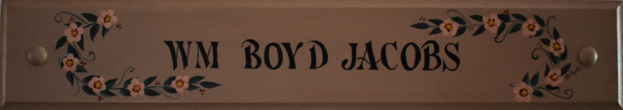 Boyd Plaque/Churchtown BB/Lancaster area, PA